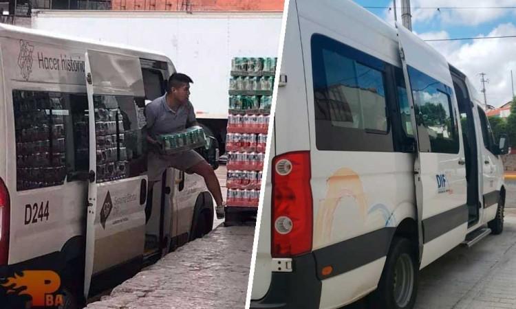 Zacatlán niega que camioneta DIF reparta cervezas, sería una camioneta estatal