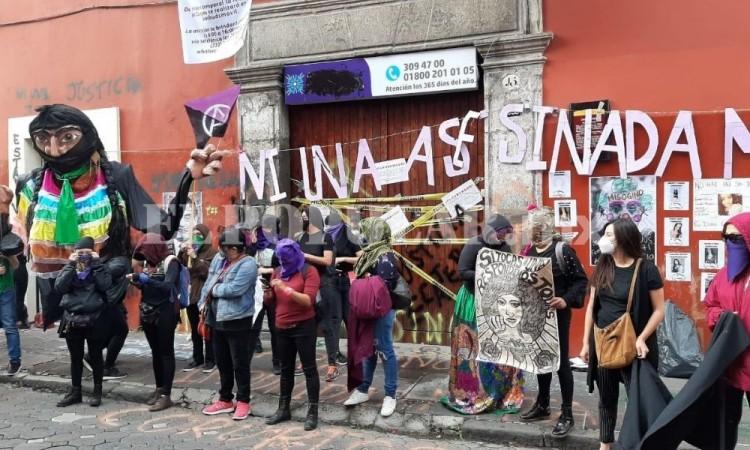 ¡No estamos todas, faltan las muertas! Feministas toman la CDH Puebla