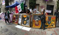 Defiende CDH protestas de mujeres en contra de violencia y feminicidios; borró las pintas de sus instalaciones