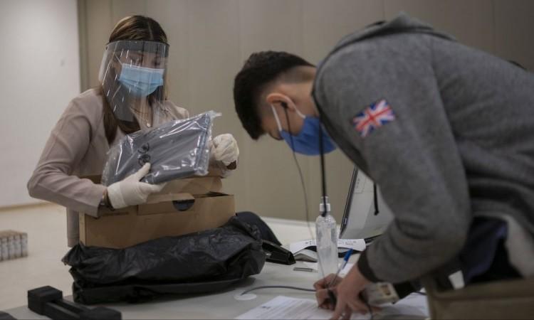 Se cuidaron todas las medidas sanitarias durante la entrega.