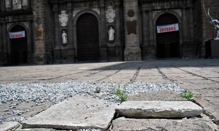 Sixtina daña 30 lajas de Catedra, prometen arreglarlas en 2 semanas