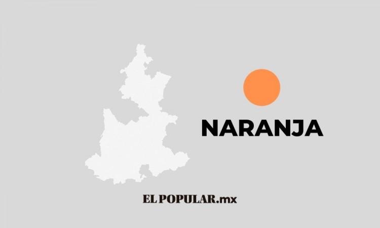Puebla cambia de color a naranja.