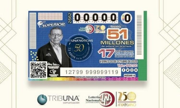 Lotería Nacional rinde homenaje a don Enrique Montero Ponce