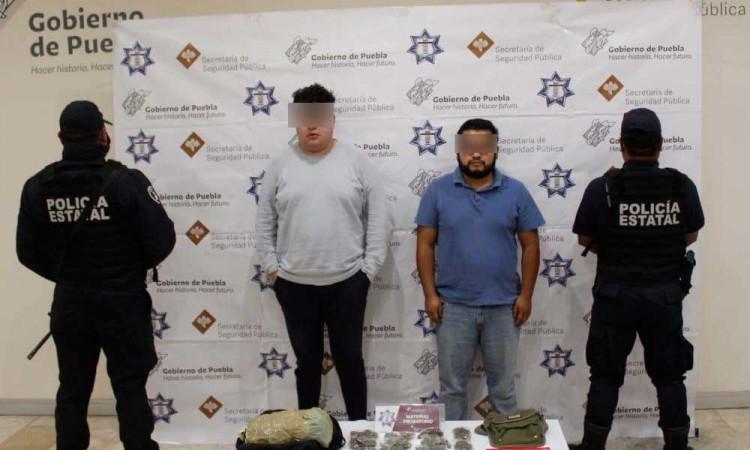 Detienen a tres presuntos narcomenudistas en Cholula