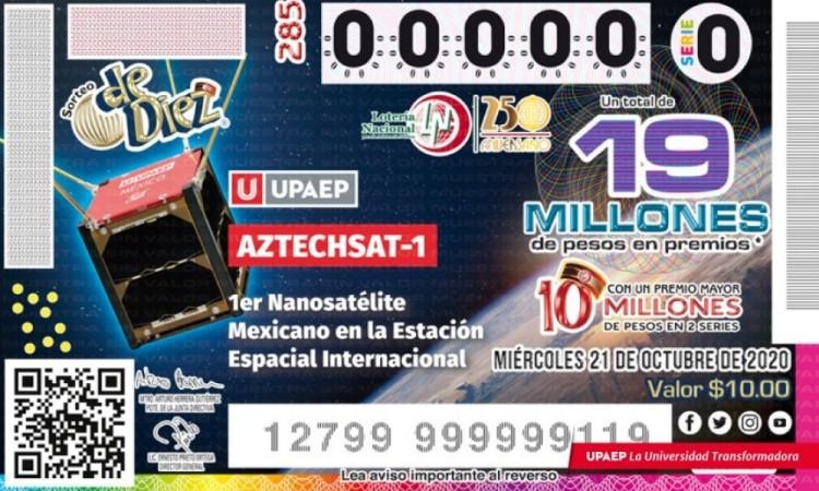 El AztechSat-1 llega a la Lotería Nacional
