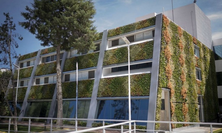 Inaugura Rector Alfonso Esparza Muro Verde en la Facultad de Ciencias Biológicas de la BUAP