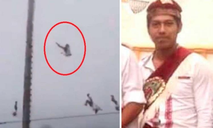 Volador de Papantla que cayó se fracturó columna, muñeca y fémur