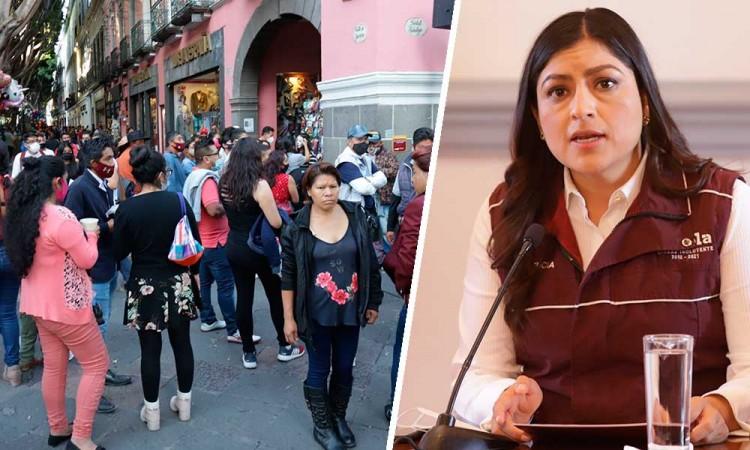 Claudia Rivera pide a poblanos respetar medidas de sanidad para no volver al confinamiento