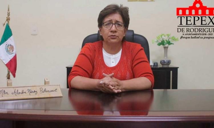 Exhorta alcaldesa de Tepexi a defender los recursos del Ayuntamiento