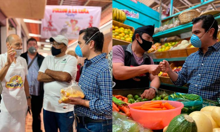 Marcelo García apoya al Mercado El Cuexcomate