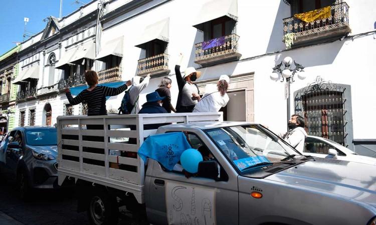 Pro vida exigen freno a la despenalización del aborto en Puebla