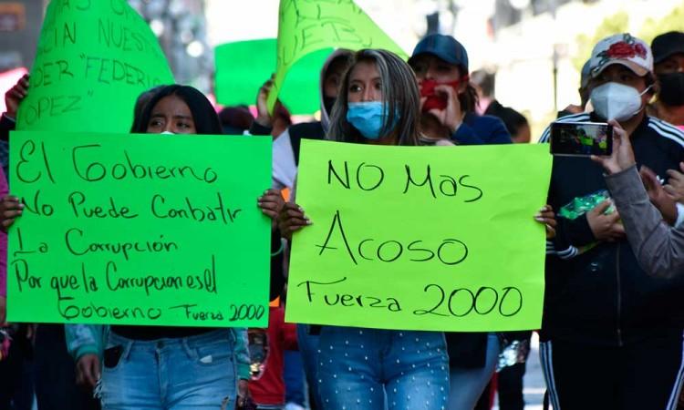 Ambulantes de Fuerza 2000 piden tregua para su líder Federico López