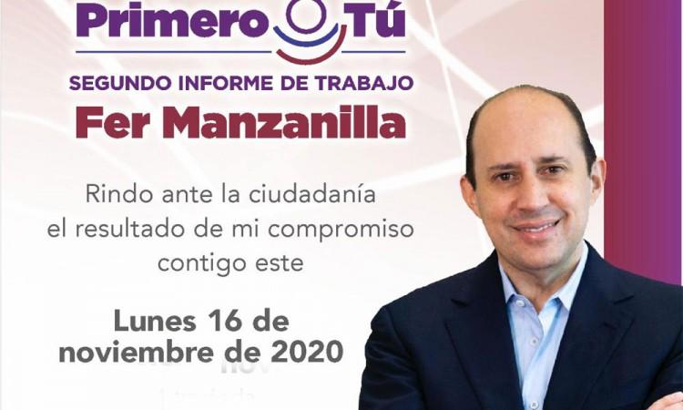 Fernando Manzanilla rendirá su informe a través de redes sociales