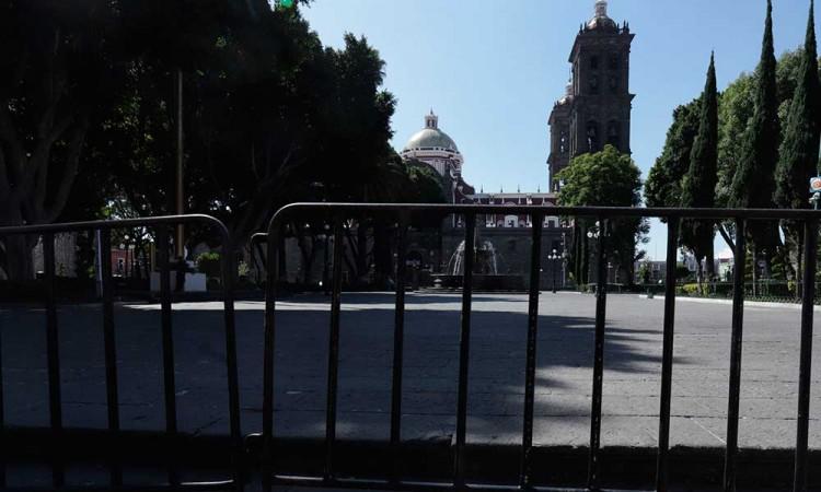 Regidores piden mantener el zócalo de Puebla cerrado hasta 20 de noviembre