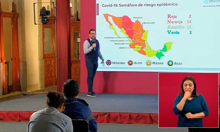 Puebla se mantiene dos semanas en Amarillo; Chiapas pasa al verde