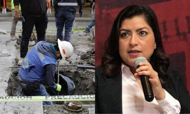 Cierres en el centro se mantendrán indefinidamente por contingencia: Claudia Rivera