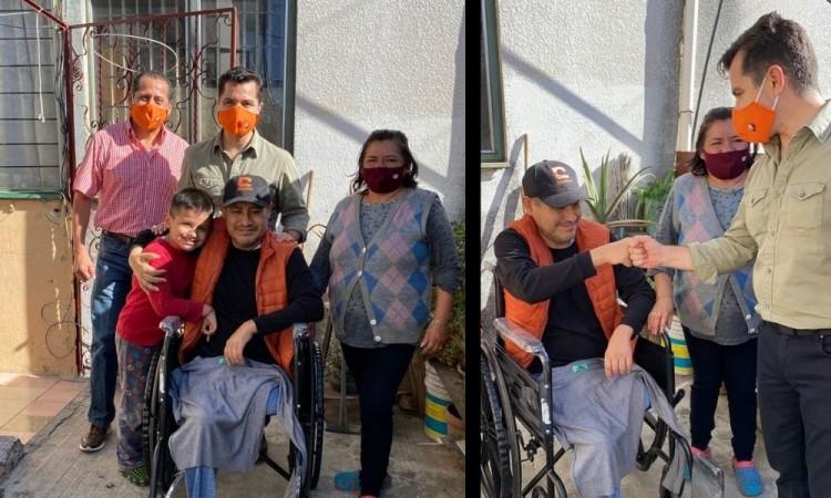 Chelo García manifestó su solidaridad con todos los poblanos.
