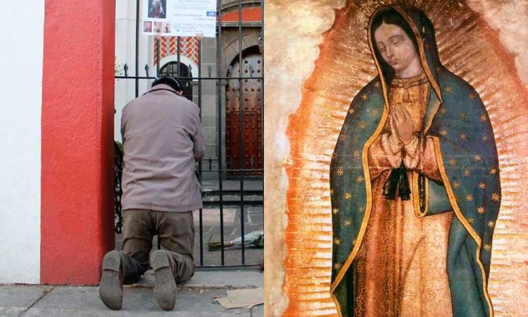 Armando le pedirá a la Virgen que cuide a su esposa fallecida por Covid