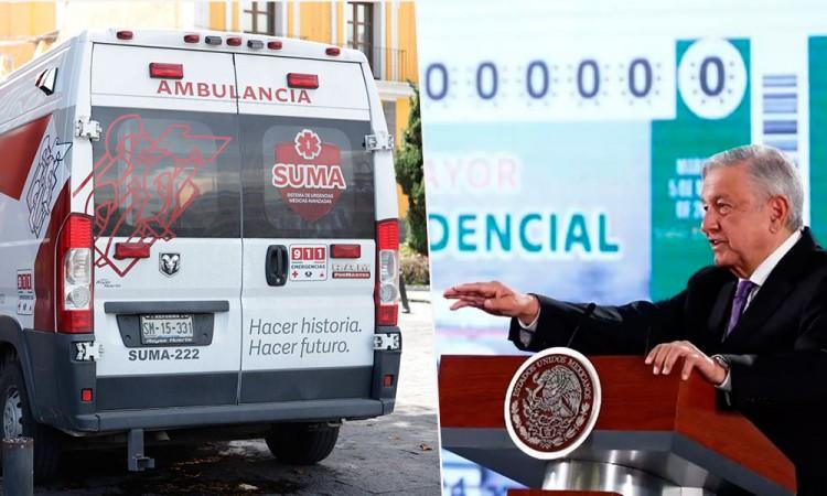 Puebla recibirá siete ambulancias tras rifa de avión presidencial