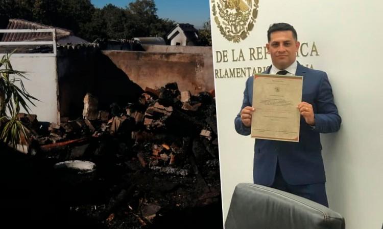 Incendian casa del nuevo magistrado electoral Fredy Erazo