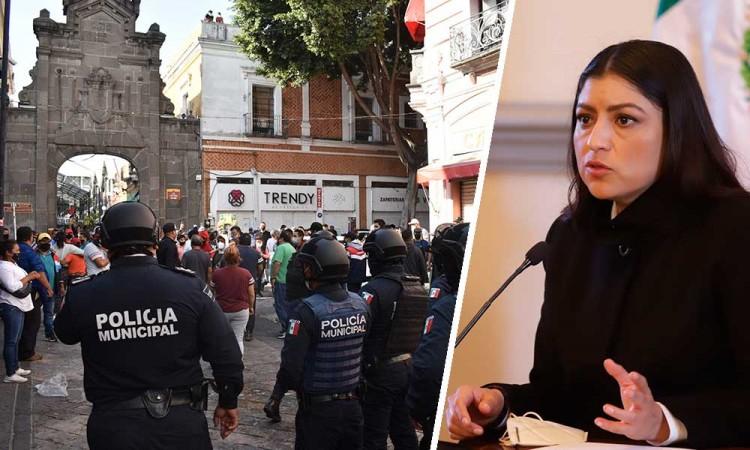 Claudia Rivera respalda acciones de Gobernación contra ambulantes