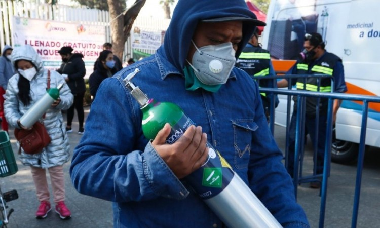 Posibles centros de reabasto de oxígeno gratuito en Puebla