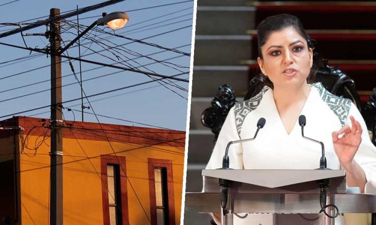 Puebla capital absorberá los gastos de luminarias; Rivera lamenta recorte del Congreso