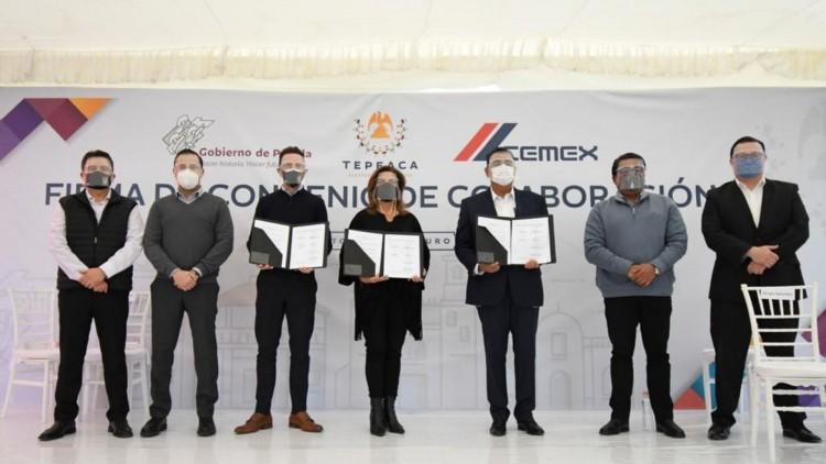 Cemex y gobierno del estado de Puebla repavimentan vialidades en Tepeaca