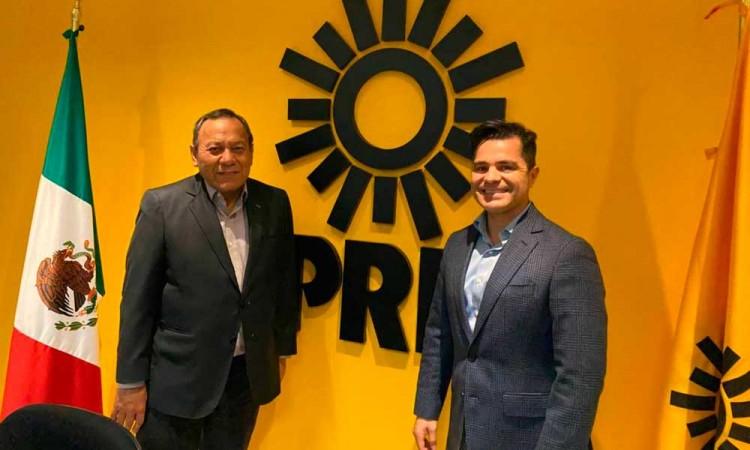 Marcelo García se reúne con Jesús Zambrano, presidente nacional del PRD