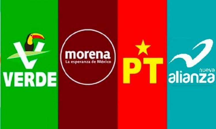 Morena, PT, PVEM y Nueva Alianza van en coalición para diputaciones