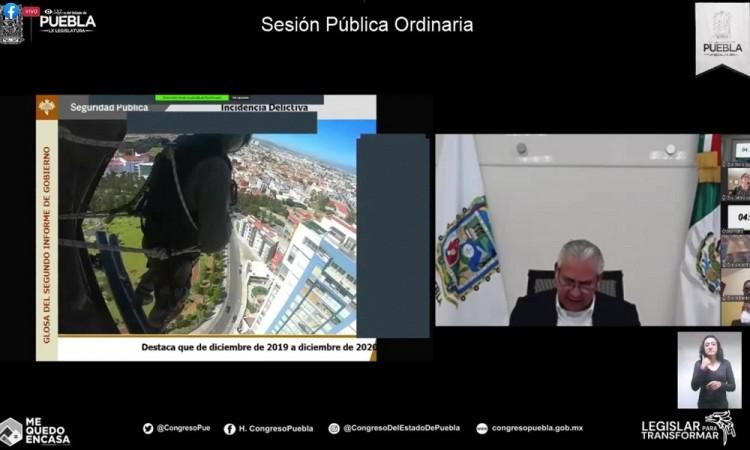 Covid19 no frenó delincuencia e inseguridad en Puebla, admite SSP