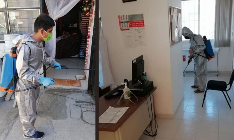 Antorcha realiza acciones de desinfección en casas pobres de la capital