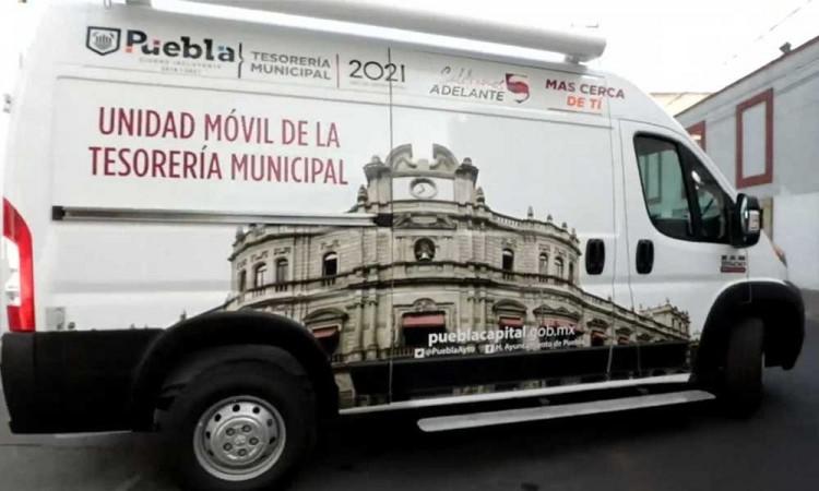 Ponen en marcha Tesorería Móvil para realizar pago de impuestos en la ciudad de Puebla