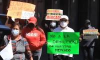 Líderes comerciantes se suman a movimiento contra obras en Mercado Amalucan