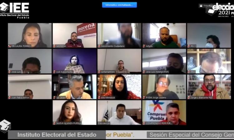 """Avala IEE coaliciones """"Va por Puebla"""" y """"Juntos Haremos Historia en Puebla"""""""