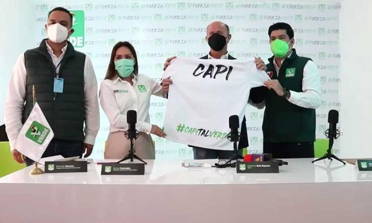 """""""El Capi"""" Ruiz Esparza va por la alcaldía de Puebla con el Partido Verde"""