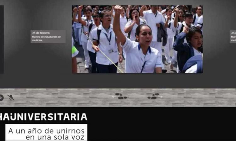 Regresaremos a las calles, advierten estudiantes, a un año de la Mega Marcha Universitaria en Puebla