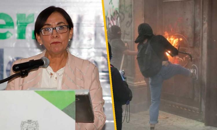 Diputada García Olmedo critica al gobierno de Puebla por criminalizar marcha del 8M