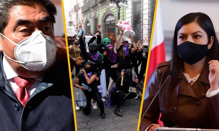 ¿Realmente el Ayuntamiento de Puebla metió mano en los actos violentos en la marcha del 8M?