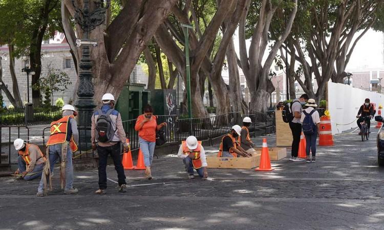 ¿Cómo afectará la remodelación del Zócalo de Puebla a comercios?