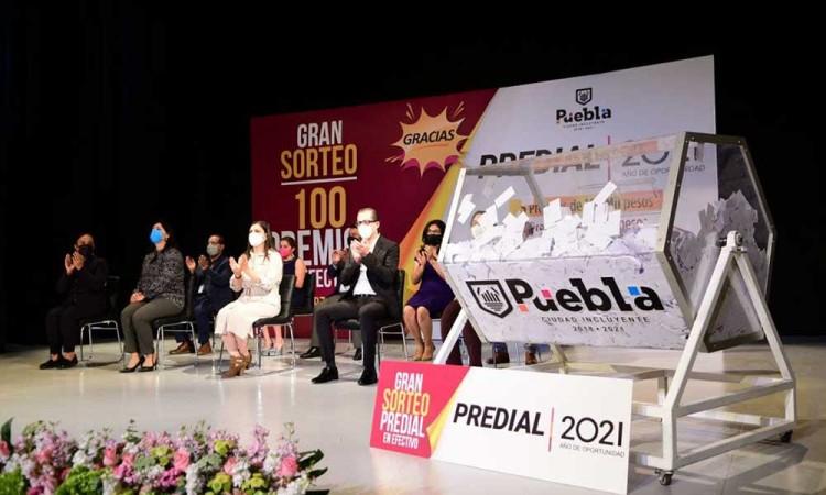 Anuncian a los ganadores del Sorteo Predial 2021 en Puebla