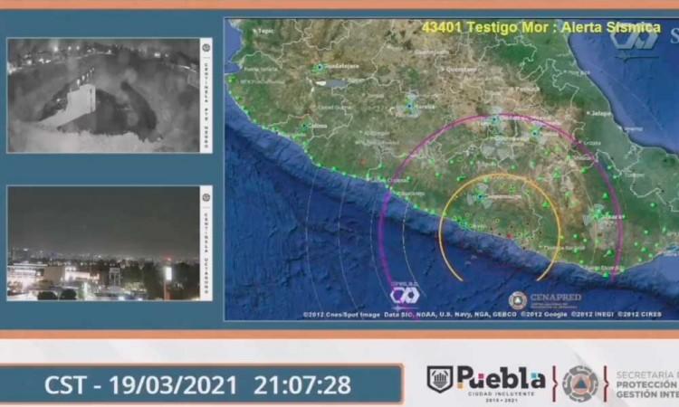 Sin daños en Puebla tras sismo en Guerrero, reporta PC