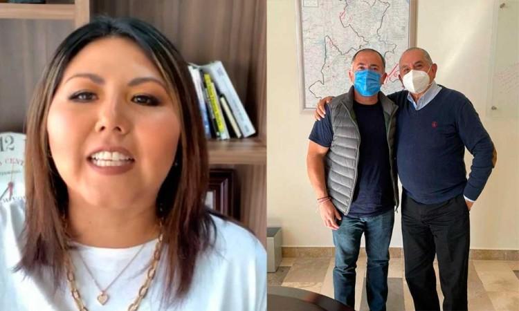 Acusa Genoveva Huerta intromisión por parte de Ardelio Vargas en manifestación de panistas