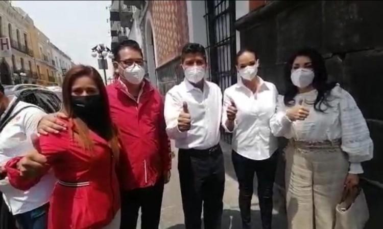 ¡Lalo, amigo, el priísmo está contigo!, Eduardo Rivera se reúne con militantes del PRI