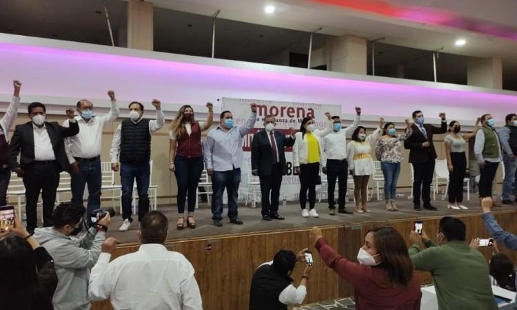 Unen fuerzas candidatos de Morena en Puebla rumbo al 6 de junio