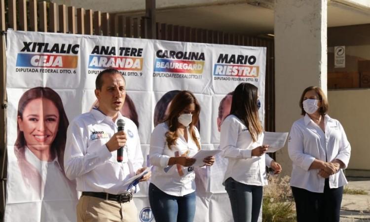 ¿Dónde están los diputados de Morena? critican candidatos a diputaciones federales de Va Por México