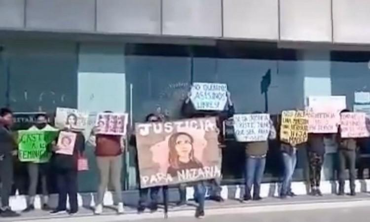 Se manifiestan en Cholula por la posible liberación de los feminicidas de Nazaria Iraís