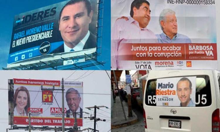 Propaganda electoral: que si y que no es correcto según el tipo de candidatura en Puebla