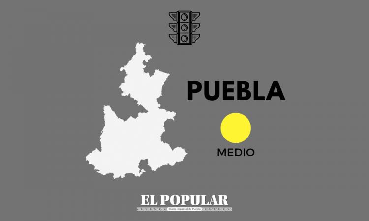 Puebla pasa a riesgo medio del semáforo de riesgo epidémico