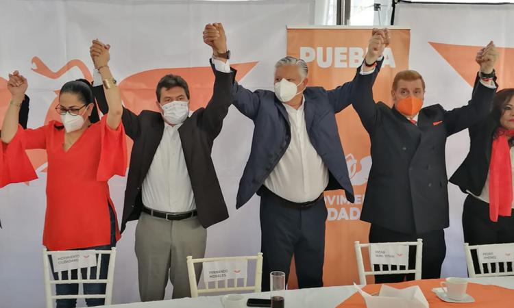 Se convierte Yamil Yitani en candidato oficial de MC a la alcaldía de Puebla
